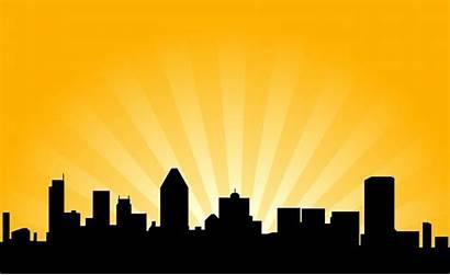 Skyline Night Clipart Silhouette Clip Cityscape Skylines
