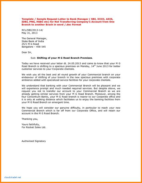 letter format  bank manager bank statement