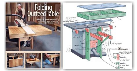 folding table  outfeed table woodarchivist