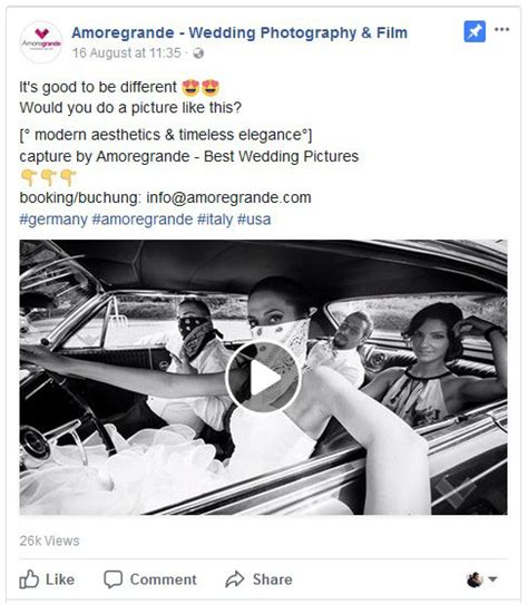 create wedding photography facebook ads  win