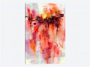 city sunset canvas wall art by lesia binkin icanvas With what kind of paint to use on kitchen cabinets for sunset beach canvas wall art