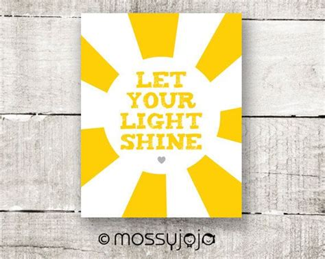 let your light shine 8x10 print yellow wall