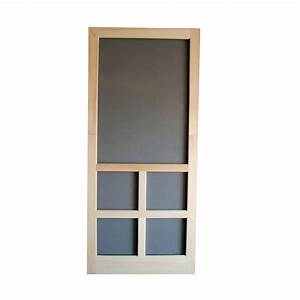 Shop Screen Tight Fredrick Natural Wood Screen Door at