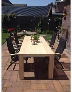 Schiebegardine 300 Cm Lang : tuintafel 90 cm breed tot 300 cm lang rechte poten steigerhout r de b meubels op maat ~ Markanthonyermac.com Haus und Dekorationen