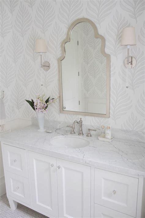 beautiful wallpapered bathrooms