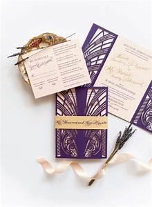 nicole patrick39s modern gatsby wedding invitations With laser cut wedding invitations near me
