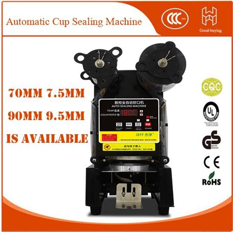 automatic cup sealing machine  food  drink package cup sealer bubble tea cup sealing