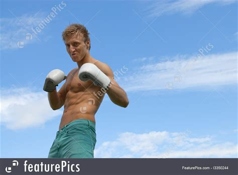 Tough Guy In Boxing Gloves Image