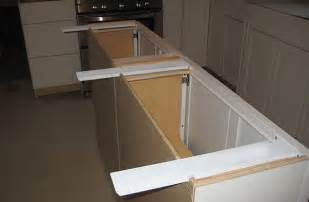 kitchen island overhang countertop island supports
