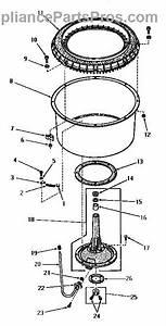 Parts For Amana Da9000  Agitator Post And Spin Tub Parts