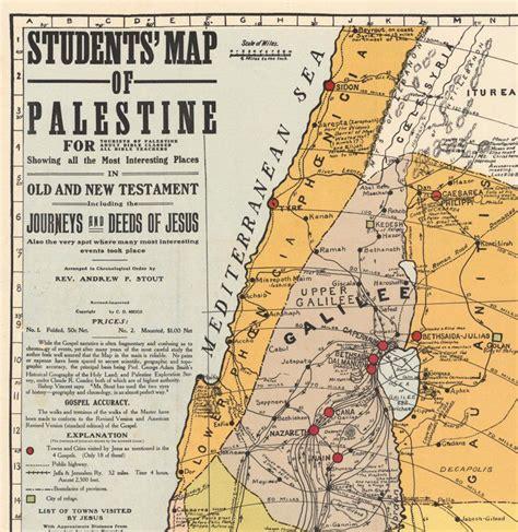 map  israel palestine jesus  religious map