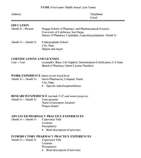 student cv template pdf free sles exles format