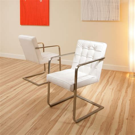 white dining chair set of 2 chairs carver modern ebay