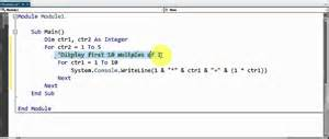 visual basic nested loops exle 1