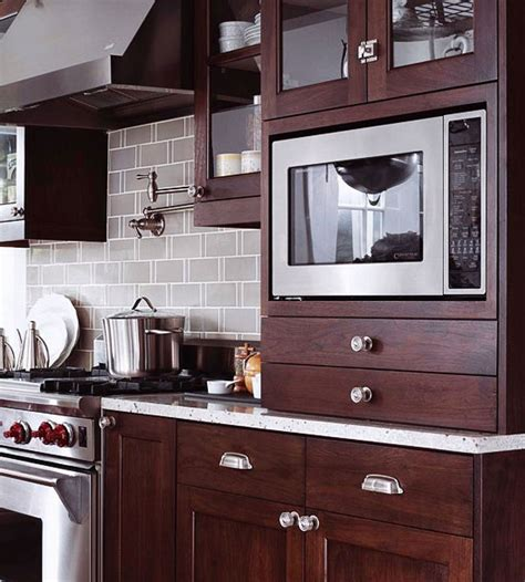 kitchen microwave cabinet how to integrate a microwave 2299
