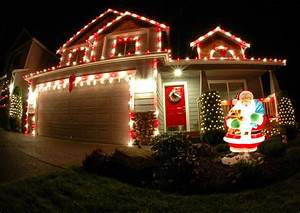 Free, Picture, Photography, Download, Portrait, Gallery, Christmas, Lights, On, Houses, Decorations, For