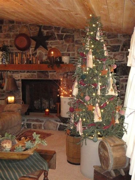 Primitive Christmas Decorating Ideas  Primitive Christmas