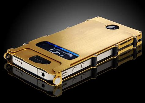 inoxcase stainless steel iphone  case gadgetsin
