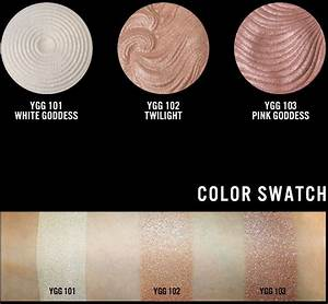 you glow girl jcat baked highlight swatch | D&B Cosmetics