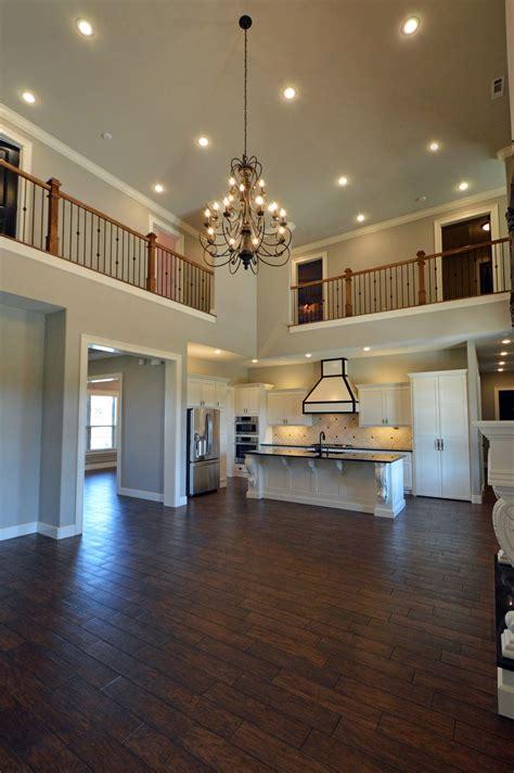 Open Floor Plan by Open Floor Plan Featuring Wood Look Shaw Porcelain Tile