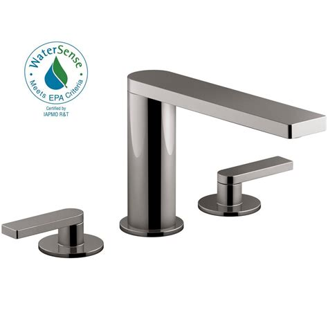 kohler composed   widespread  handle lever handle bathroom faucet  drain  titanium