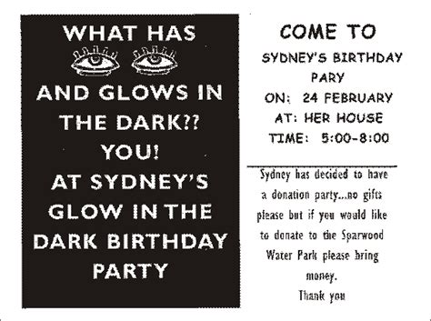 Birthday Invitation Wording For Kids Say No Gifts Dark Quotes Quotesgram