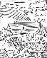 Flood Coloring Pages Noah Getcolorings Printable sketch template