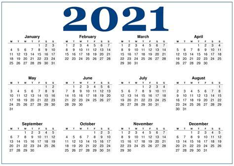 Free 2021 Calendar With Holidays   BETACALENDER4U