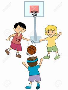 Child Playing Basketball Clipart - ClipartXtras