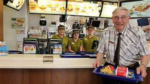 Oldest McDonald's employee in Europe celebrates 90th ...