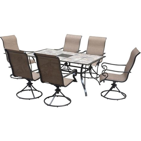 courtyard creations lakeside 7 pc dining set dining