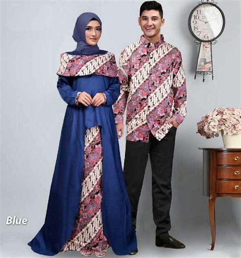 baju gamis pasangan batik lebaran sabna