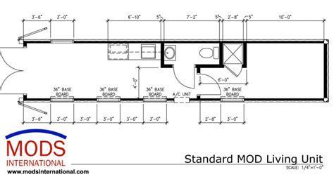 40' Standard MODS Living Unit Floor Plan   MODS International