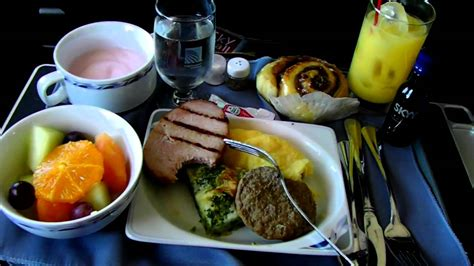 Hd Continental Airlines Food Service In First Class
