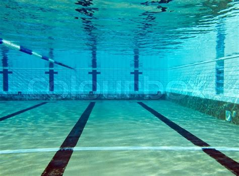 Underwater Shoot Of Empty Swimming Pool