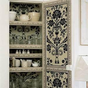 Le papier peint dans la cuisine tout savoir marie claire for Kitchen cabinets lowes with papiers peints cuisine