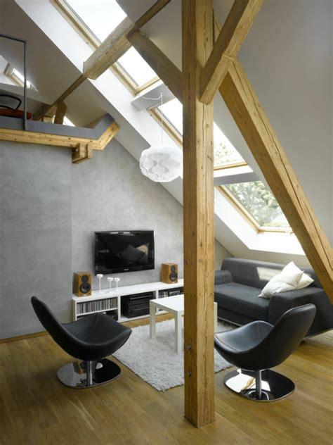 Wohnideen Aus Holz by Dachwohnung Einrichten 30 Ideen Zum Inspirieren