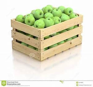 Caisse De Pomme : pommes vertes dans la caisse en bois illustration stock image 42218862 ~ Teatrodelosmanantiales.com Idées de Décoration