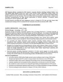 senior cost accountant resume accounting professional resume