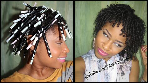 straw set  natural hair defined bouncy curls youtube