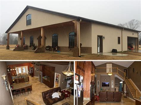 open concept floor plan metal building homes  clear span meaning