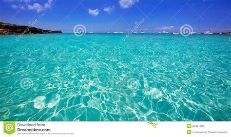 Formentera Cala Saona Beach Balearic Islands Stock Photo