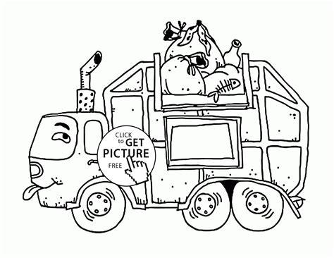 garbage truck coloring page garbage truck coloring pages free az coloring pages