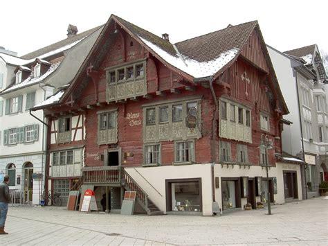 Dornbirn, Rotes Haus Am Markt, Erbaut 1639 Von Der Familie