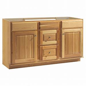 Shop style selections cotton creek natural traditional for 60 x 21 bathroom vanity