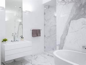 Salle De Bain Marbre Blanc : carrelage gros carreaux gris jeux naruto ~ Nature-et-papiers.com Idées de Décoration