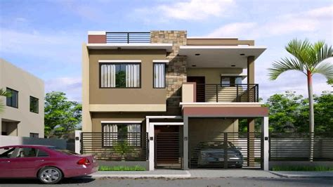 storey house design  roof deck  philippines youtube