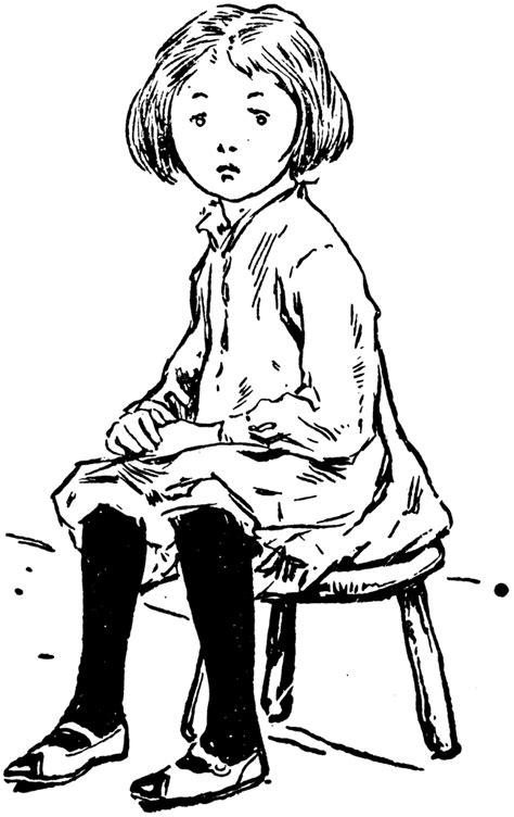 Girl Sitting   ClipArt ETC