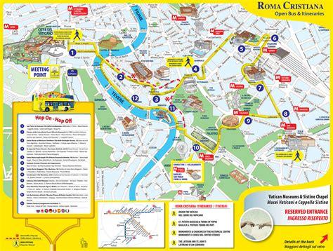 touristischen karte von rom sehenswuerdigkeiten und touren
