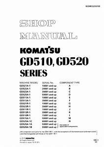 Komatsu Gd510  Gd520 Machine Model Manual Download